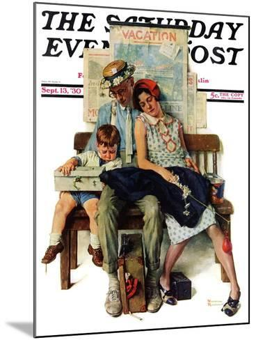 """Home from Vacation"" Saturday Evening Post Cover, September 13,1930-Norman Rockwell-Mounted Giclee Print"