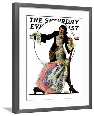 """Silhouette Maker"" Saturday Evening Post Cover, September 24,1927-Norman Rockwell-Framed Art Print"