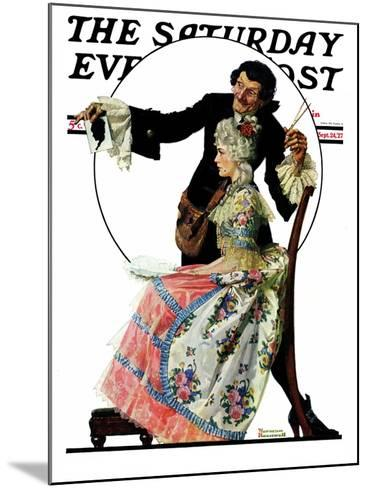 """""""Silhouette Maker"""" Saturday Evening Post Cover, September 24,1927-Norman Rockwell-Mounted Giclee Print"""