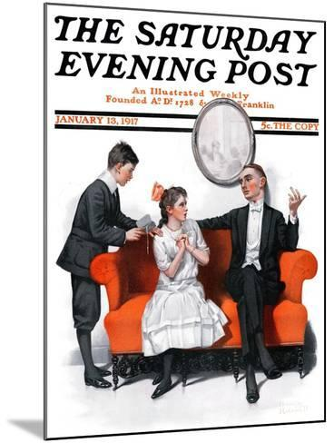 """""""Shall We Dance?"""" Saturday Evening Post Cover, January 13,1917-Norman Rockwell-Mounted Giclee Print"""