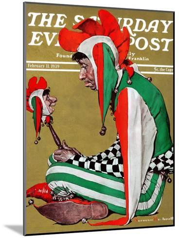 """""""Jester"""" Saturday Evening Post Cover, February 11,1939-Norman Rockwell-Mounted Giclee Print"""