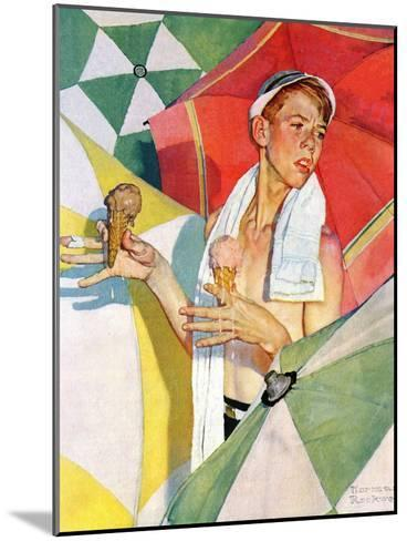 """""""Melting Ice Cream"""" or """"Joys of Summer"""", July 13,1940-Norman Rockwell-Mounted Giclee Print"""