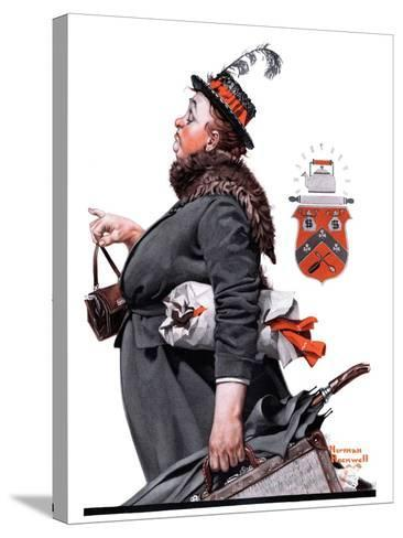 """""""Housekeeper"""", March 27,1920-Norman Rockwell-Stretched Canvas Print"""