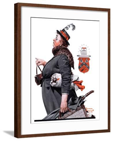 """Housekeeper"", March 27,1920-Norman Rockwell-Framed Art Print"