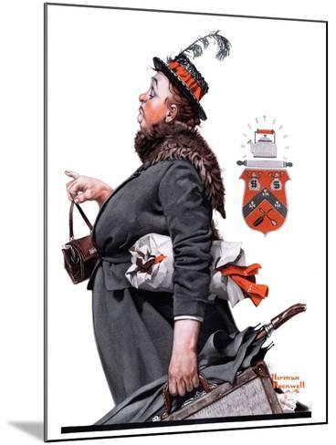 """""""Housekeeper"""", March 27,1920-Norman Rockwell-Mounted Giclee Print"""