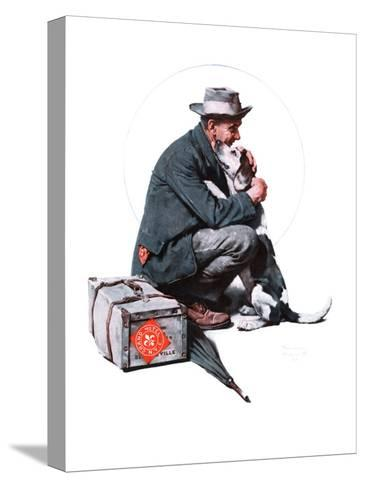 """""""Man and Dog"""" or """"Pals"""", September 27,1924-Norman Rockwell-Stretched Canvas Print"""