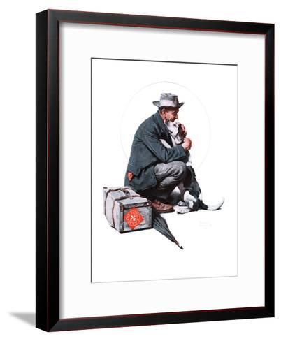 """Man and Dog"" or ""Pals"", September 27,1924-Norman Rockwell-Framed Art Print"