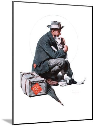 """""""Man and Dog"""" or """"Pals"""", September 27,1924-Norman Rockwell-Mounted Giclee Print"""