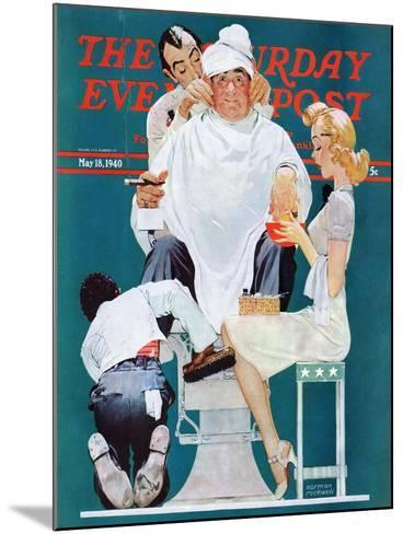 """Full Treatment"" Saturday Evening Post Cover, May 18,1940-Norman Rockwell-Mounted Giclee Print"