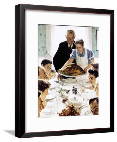 """""""Freedom From Want"""", March 6,1943-Norman Rockwell-Framed Art Print"""