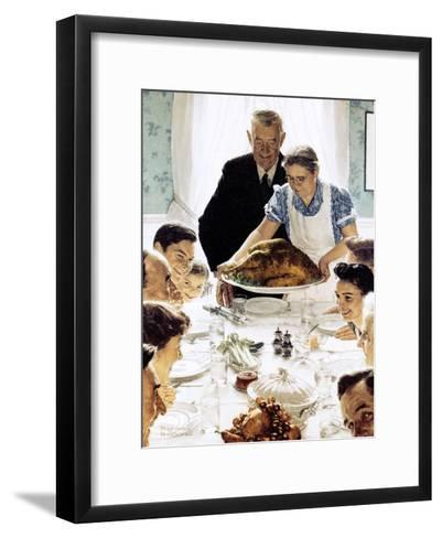 """Freedom From Want"", March 6,1943-Norman Rockwell-Framed Art Print"