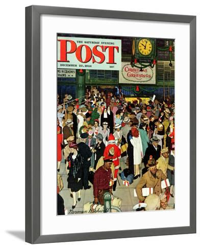 union train station chicago christmas saturday evening post cover december 23 - Chicago Christmas Station