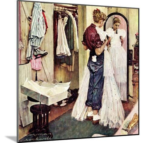 """""""Prom Dress"""", March 19,1949-Norman Rockwell-Mounted Giclee Print"""