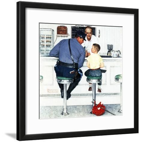 """Runaway"", September 20,1958-Norman Rockwell-Framed Art Print"