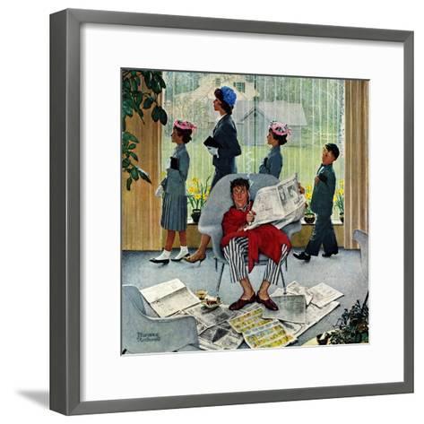 """Sunday Morning"", May 16,1959-Norman Rockwell-Framed Art Print"