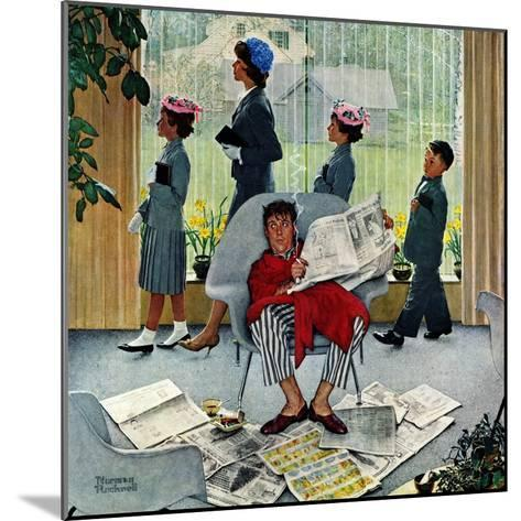 """""""Sunday Morning"""", May 16,1959-Norman Rockwell-Mounted Giclee Print"""