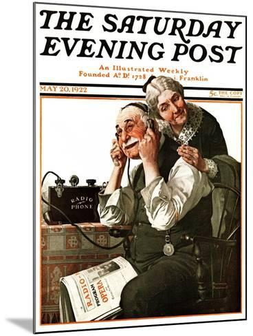 """""""Wonders of Radio"""" or """"Listen, Ma!"""" Saturday Evening Post Cover, May 20,1922-Norman Rockwell-Mounted Giclee Print"""