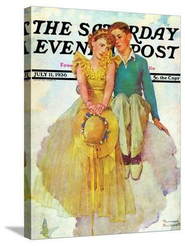 """On Top of the World"" Saturday Evening Post Cover, July 11,1936-Norman Rockwell-Stretched Canvas Print"