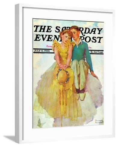 """On Top of the World"" Saturday Evening Post Cover, July 11,1936-Norman Rockwell-Framed Art Print"