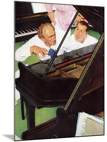 """""""Jeff Raleigh's Piano Solo"""", May 27,1939-Norman Rockwell-Mounted Giclee Print"""