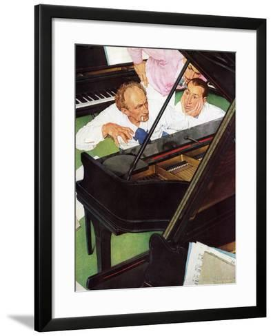 """""""Jeff Raleigh's Piano Solo"""", May 27,1939-Norman Rockwell-Framed Art Print"""