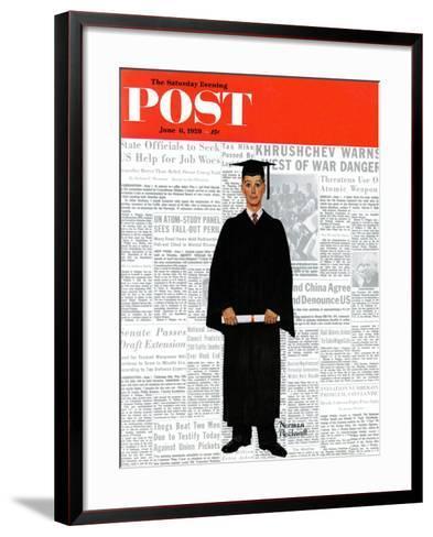 """Graduate"" Saturday Evening Post Cover, June 6,1959-Norman Rockwell-Framed Art Print"