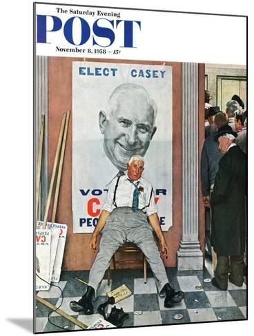 """Elect Casey"" or ""Defeated Candidate"" Saturday Evening Post Cover, November 8,1958-Norman Rockwell-Mounted Giclee Print"