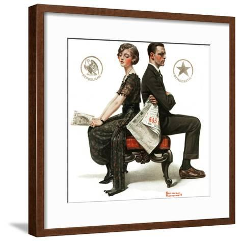 """Election Debate"", October 9,1920-Norman Rockwell-Framed Art Print"