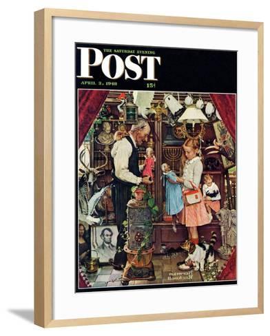 """April Fool, 1948"" Saturday Evening Post Cover, April 3,1948-Norman Rockwell-Framed Art Print"