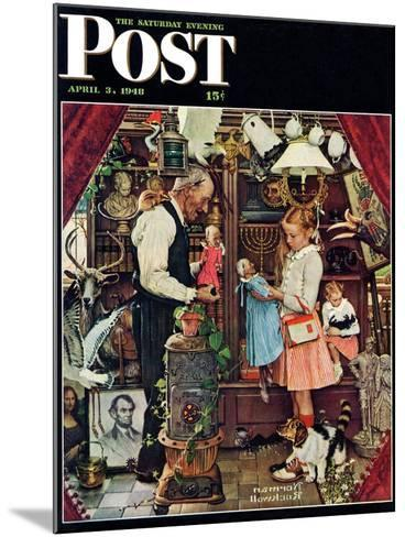 """""""April Fool, 1948"""" Saturday Evening Post Cover, April 3,1948-Norman Rockwell-Mounted Giclee Print"""