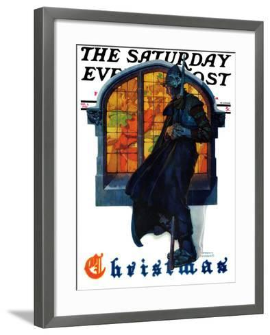 """""""Christmas"""" Saturday Evening Post Cover, December 6,1930-Norman Rockwell-Framed Art Print"""