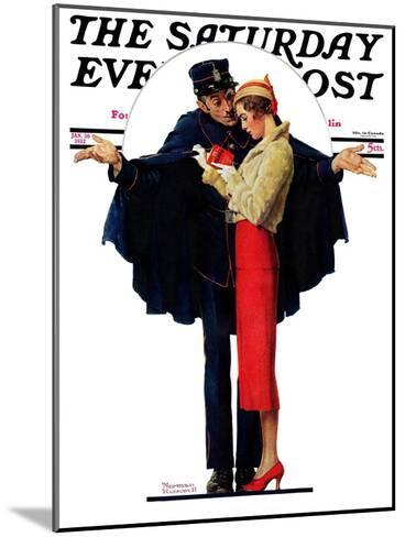 """""""Lost in Paris"""" or """"Boulevard Haussmann"""" Saturday Evening Post Cover, January 30,1932-Norman Rockwell-Mounted Giclee Print"""