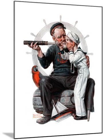 """""""Setting One's Sights"""" or """"Ship Ahoy"""", August 19,1922-Norman Rockwell-Mounted Giclee Print"""