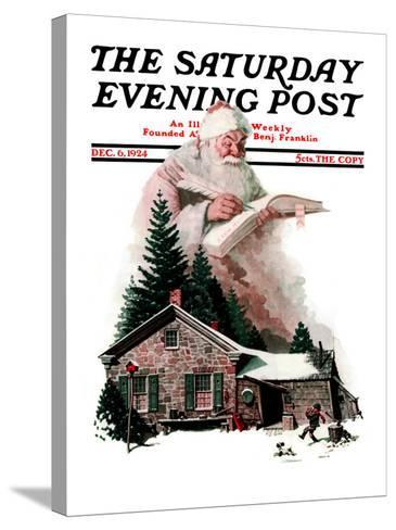 """""""Good Deeds"""" Saturday Evening Post Cover, December 6,1924-Norman Rockwell-Stretched Canvas Print"""
