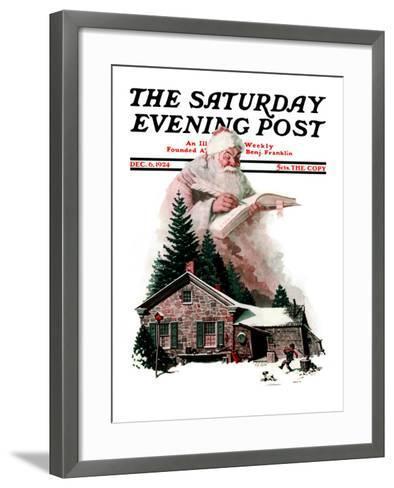 """Good Deeds"" Saturday Evening Post Cover, December 6,1924-Norman Rockwell-Framed Art Print"