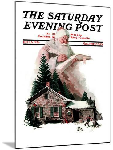 """""""Good Deeds"""" Saturday Evening Post Cover, December 6,1924-Norman Rockwell-Mounted Giclee Print"""