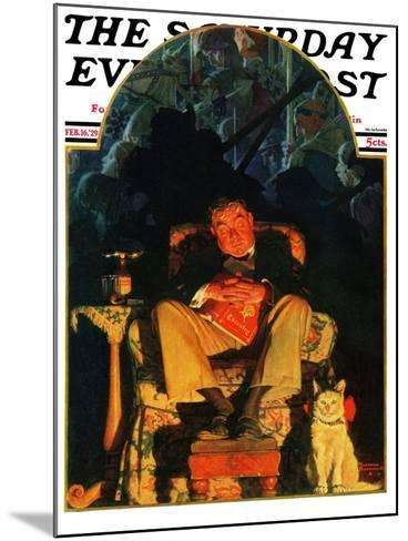 """Dreams"" Saturday Evening Post Cover, February 16,1929-Norman Rockwell-Mounted Giclee Print"