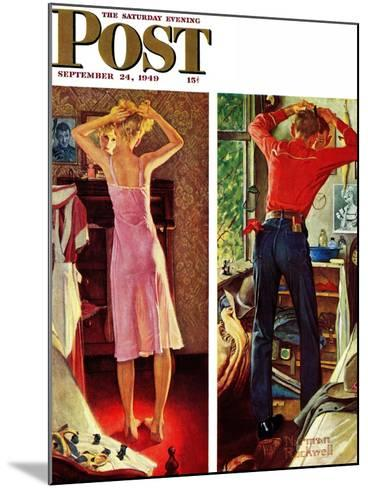 """""""Before the Date"""" Saturday Evening Post Cover, September 24,1949-Norman Rockwell-Mounted Giclee Print"""
