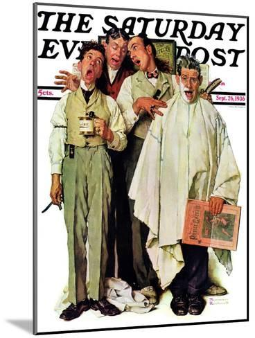 """Barbershop Quartet"" Saturday Evening Post Cover, September 26,1936-Norman Rockwell-Mounted Giclee Print"