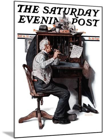 """""""Flutist"""" or """"Spring Song"""" Saturday Evening Post Cover, May 16,1925-Norman Rockwell-Mounted Giclee Print"""