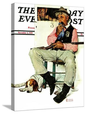 """Sheriff and Prisoner"" Saturday Evening Post Cover, November 4,1939-Norman Rockwell-Stretched Canvas Print"