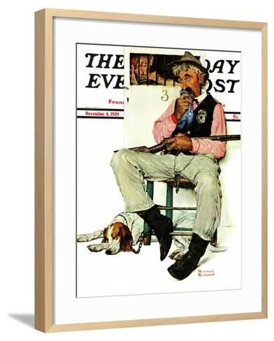 """Sheriff and Prisoner"" Saturday Evening Post Cover, November 4,1939-Norman Rockwell-Framed Art Print"