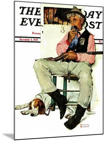 """Sheriff and Prisoner"" Saturday Evening Post Cover, November 4,1939-Norman Rockwell-Mounted Giclee Print"