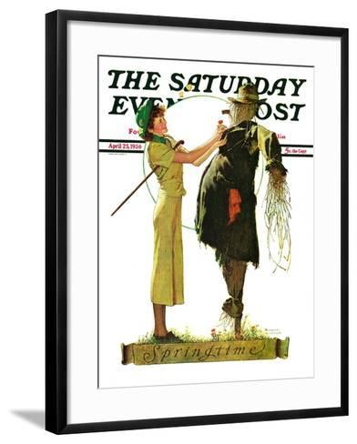 """Springtime, 1936"" Saturday Evening Post Cover, April 25,1936-Norman Rockwell-Framed Art Print"