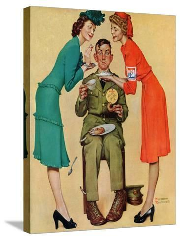 """Willie Gillis at the U.S.O."", February 7,1942-Norman Rockwell-Stretched Canvas Print"