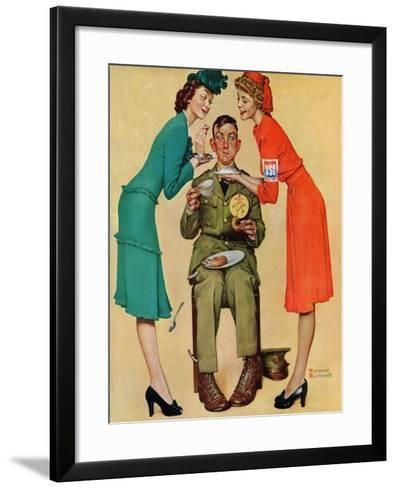 """Willie Gillis at the U.S.O."", February 7,1942-Norman Rockwell-Framed Art Print"