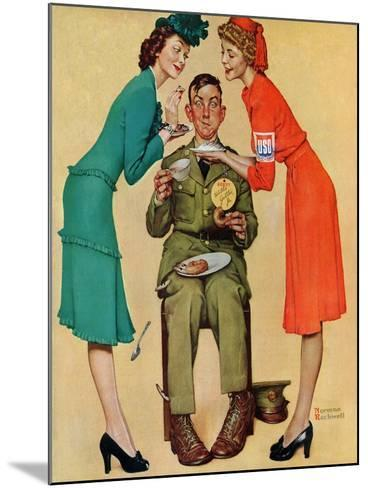 """Willie Gillis at the U.S.O."", February 7,1942-Norman Rockwell-Mounted Giclee Print"