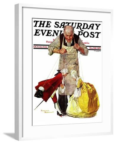 """""""Marionettes"""" Saturday Evening Post Cover, October 22,1932-Norman Rockwell-Framed Art Print"""