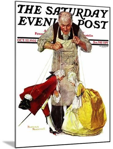 """""""Marionettes"""" Saturday Evening Post Cover, October 22,1932-Norman Rockwell-Mounted Giclee Print"""