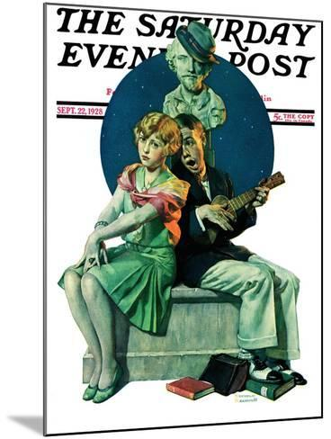 """""""Serenade"""" Saturday Evening Post Cover, September 22,1928-Norman Rockwell-Mounted Giclee Print"""